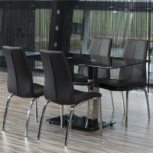 Комплект из 4-х стульев Asama, черный/серый