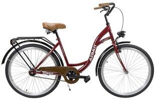 """Sieviešu pilsētas velosipēds Azimut Classic 26"""" 2019, tumši sarkans"""