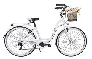 """Sieviešu pilsētas velosipēds Azimut Sarema ALU 28"""" TX 6-speed 2019, balts"""