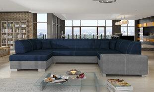 Mīksts stūra dīvāns Havana, tumši zils/gaiši pelēks