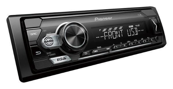 Pioneer, MVH-S110UBW RDS magnetola ar USB