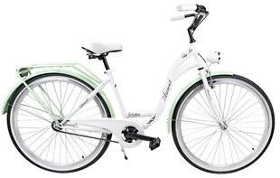 """Sieviešu pilsētas velosipēds Azimut City Lux 28"""" 2019, balts/zaļš"""