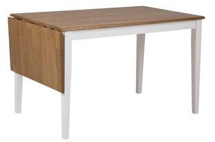 Galds Brisbane 120, ozola/baltas krāsas cena un informācija | Virtuves galdi, ēdamgaldi | 220.lv