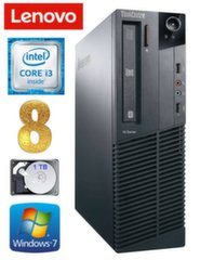 Lenovo ThinkCentre M82 SFF i3-3220 8GB 1TB DVD WIN7Pro
