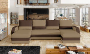 Universāls mīkstais stūra dīvāns Marion, brūns cena un informācija | Stūra dīvāni | 220.lv