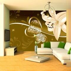 Fototapetai - Zaļo nokrāsu lilijas cena un informācija | Fototapetes | 220.lv