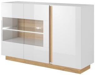 Kumode Arco 138, baltā/ozolkoka krāsā cena un informācija | Kumode Arco 138, baltā/ozolkoka krāsā | 220.lv