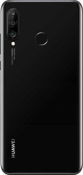 Huawei P30 Lite, 128 GB, Pusnakts melns