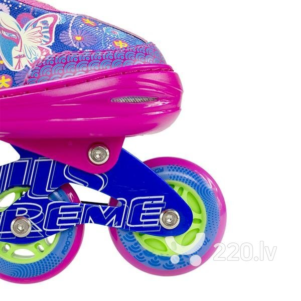 Regulējama izmēra LED skrituļslidas Nils Extreme NJ4605, rozā