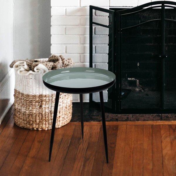 Kafijas galdiņš Cilian 37, melns/gaiši zaļš cena