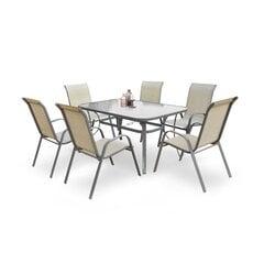 Āra galds Mosler, pelēks cena un informācija | Dārza galdi | 220.lv