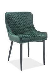 4-u krēslu komplekts Colin B Velvet, zaļs/melns cena un informācija | Virtuves un ēdamistabas krēsli | 220.lv