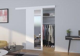Nišas durvis ar spoguli Malta 80, baltas
