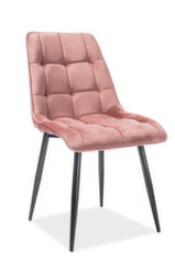 Комплект из 4-х стульев Chic, розовый/черный