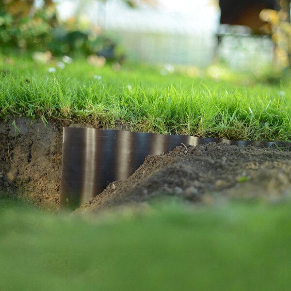 Zāliena šķērssiena 10 cm x 9 m (brūna) lētāk