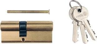 Slēdzenes serdene 87mm, L36/51mm, ar 3 atslēgām, misiņa Vorel 77205