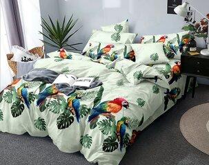Gultas veļas komplekts Papagaiļi, balts, 3 daļu