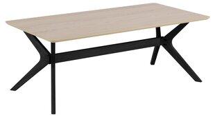 Kafijas galdiņš Duncan, brūns/melns cena un informācija | Žurnālgaldiņi | 220.lv