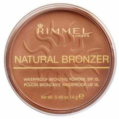 Bronzeris Rimmel London Natural Bronzer Waterproof SPF15 14 g, 025 Sun Glow
