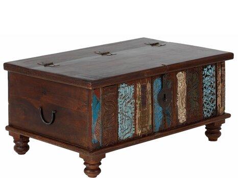 Kafijas galdiņš Divit, brūns/zils