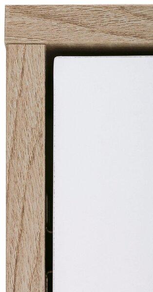 Skapis Amy, balts/ozola krāsas