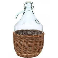 Stikla pudele pinumā Dama, 5 L