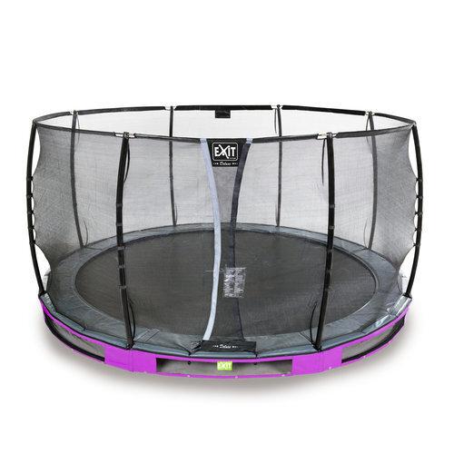 Batuts Exit Elegant Premium ar aizsargtīklu Deluxe, diametrs 366 cm, violets cena