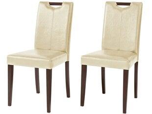 2-u krēslu komplekts Sawyer PU, smilšu/brūnas krāsas
