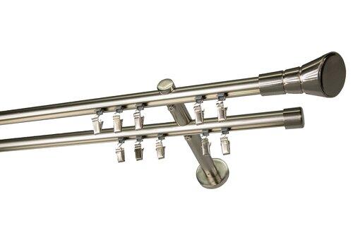 Dubultā karnīze OLIMP, 150 cm cena un informācija | Aizkaru stangas, karnīzes | 220.lv