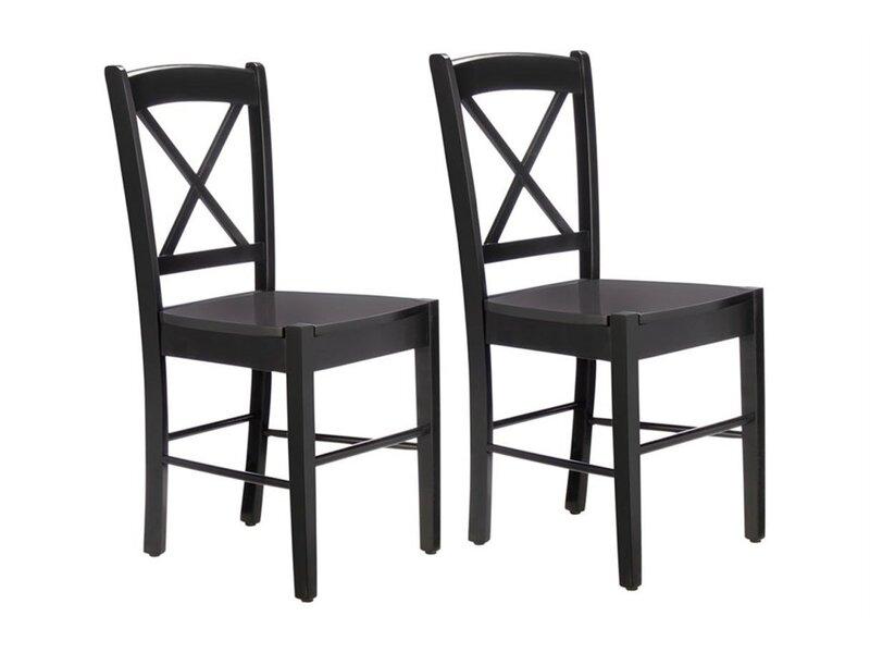 2-u krēslu komplekts Trento, melns