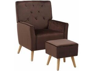 Krēsls ar pufu Mandy, brūns