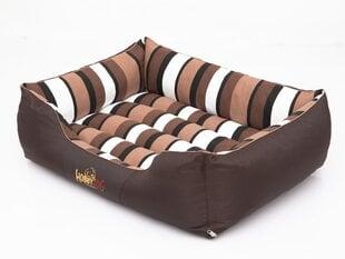 Hobbydog лежак Comfort XL, коричневый полосатый цена и информация | Hobbydog лежак Comfort XL, коричневый полосатый | 220.lv