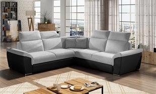 Universāls stūra dīvāns Federico, gaiši pelēks/melns