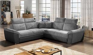 Universāls stūra dīvāns Federico V, pelēks cena un informācija | Stūra dīvāni | 220.lv