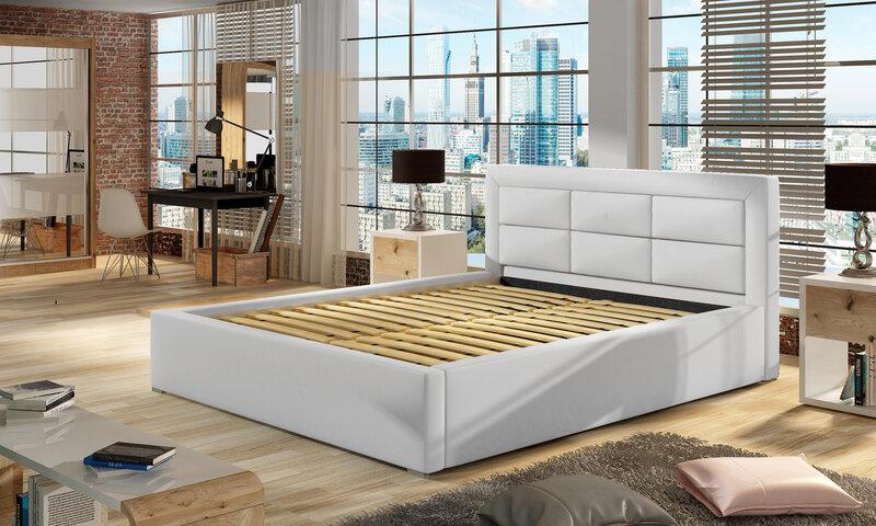 Кровать Rosano MD, 180х200 см, светло-коричневая