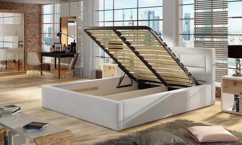 Кровать Rosano MTP, 180х200 см, темно-серая