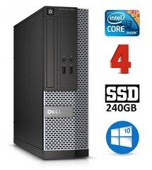 Dell 3020 SFF i3-4130 4GB 240SSD DVDRW WIN10Pro cena un informācija | Stacionārie datori | 220.lv