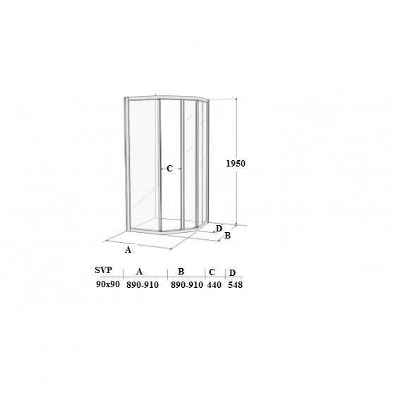 Dušas kabīne Ifö Solid SVP NS 99, 90x90cm cena