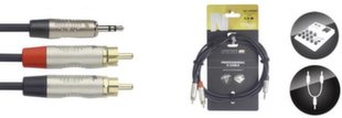 Jack 3,5 stereo 2xRCA, 1.5 м