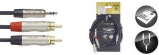 Jack 3,5 stereo 2xRCA, 3 м