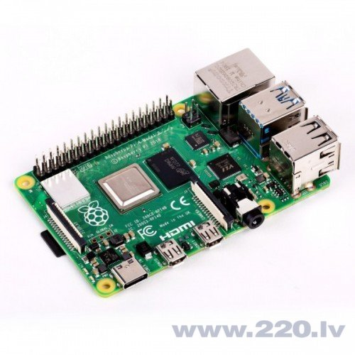 Raspberry Pi 4 modelis B WiFi DualBand Bluetooth 1GB RAM 1,5GHz
