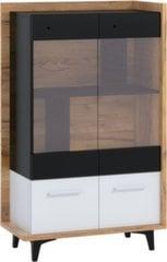 Vitrīna Meblocross Box 12 2D, gaiši brūna/balta