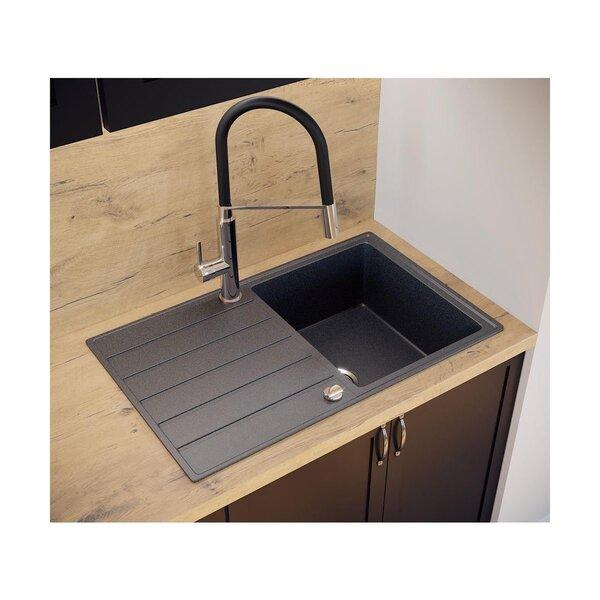 Mākslīgā granīta virtuves izlietne Delinia Katrina S28, pelēka atsauksme