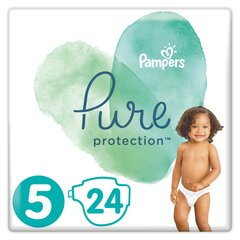 Подгузники PAMPERS PURE, Carry Pack размер 5, 24 шт.