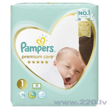 Autiņbiksītes PAMPERS Premium Care, Value Pack 1 izmērs, 78 gab.