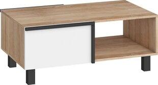 Kafijas galdiņš Meblocross Lars 03 2D, baltas/gaiši ozola krāsas cena un informācija | Žurnālgaldiņi | 220.lv