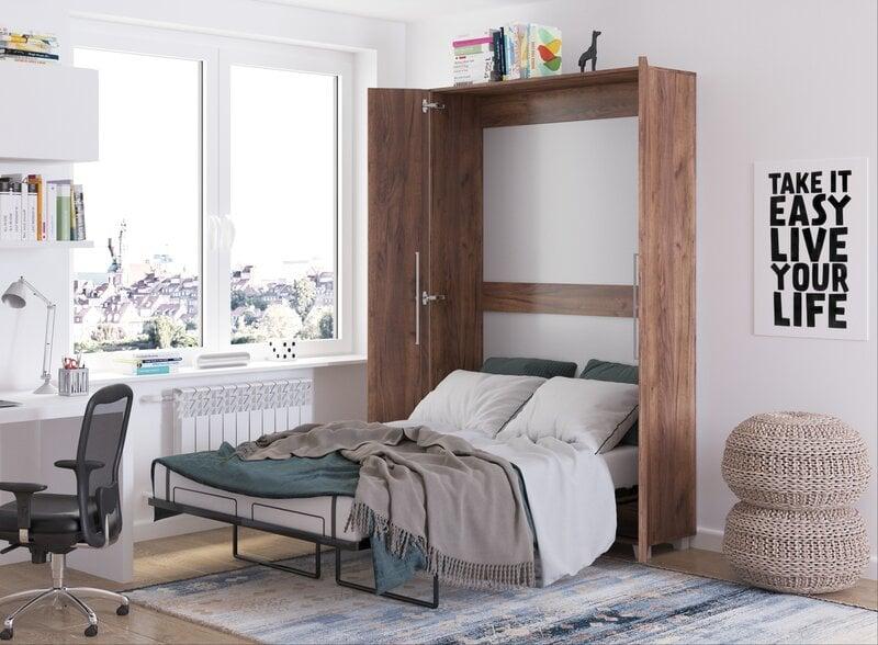 Откидная кровать Meblocross Teddy 120, 120x200 см, темно-коричневая