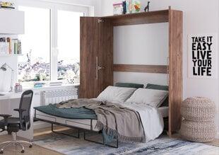 Sienas gulta Meblocross Teddy 160, 160x200 cm, tumši brūna