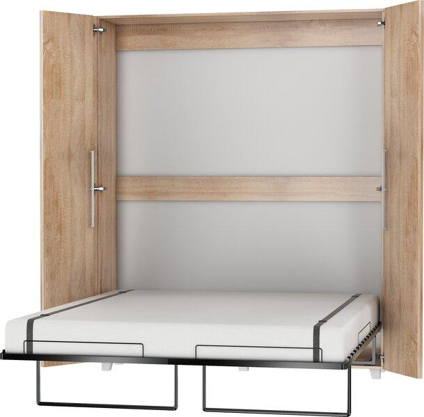 Откидная кровать Meblocross Teddy 160, 160x200 см, цвета светлого дуба