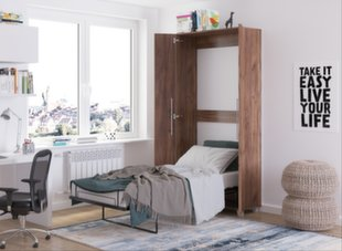 Sienas gulta Teddy 90, 90x200 cm, tumši brūna cena un informācija | Bērnu gultas | 220.lv